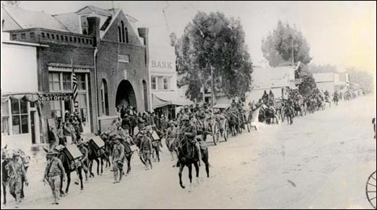 Main St, Ramona Town Hall, WW I